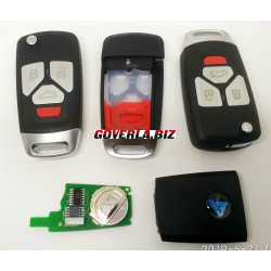 Audi Style 3+1 button remote key  B27-3+1 for KD300 and KD900 and URG200 to produce any model  remote