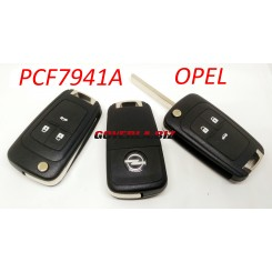 opel  remote key with 433MHZ  with 7941A chip, 3 button key