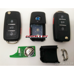 VW style 3+1 button remote key B08-3+1 for KD300 and KD900 універсальний пульт